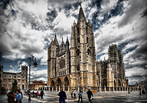 Cathedral in Leon, Spain